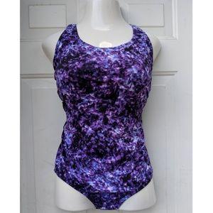 ➕ 14 SPEEDO Purple Cross Back Swimsuit